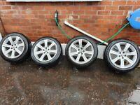 Original jaguar xf wheels with tyres