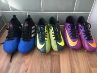Boys Nike and adidas football boots size 1.5 and 2