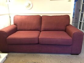 3-seater and 2-seater fabric sofas for sale