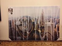 New York City Canvas Wall Art 118 X 80cm Brand New sealed Large Print Buildings Roof Views