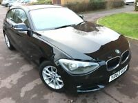 2013 BMW 1 Series 1.6 116D Efficientdynamics - Black - Great Condition - £0 Road Tax - P/X Welcome