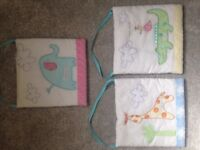 3 cloth pictures ideal for nursery, bedroom or playroom