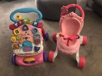 Vtech Baby Walker and Fisher Price Princess Walker