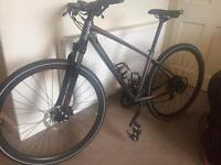 NEW BIKE, hybrid, Specialized crosstail disc 17, lock + lights