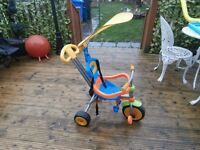 3 Wheel bike with handle cover and also a back box