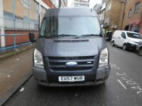 2008 FORD TRANSIT 2.2 TDCI DURATORQ MID HIGH ROOF PANEL VAN A/C ELECTRIC PACK YEAR MOT MET GREY VGC