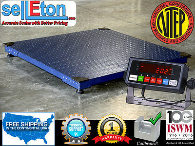 New Floor Scale 48x48 4x4 Ntep Legal For Trade 5000 X 1 Lb Indicator