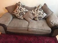Brown cord settee