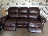 Quay west leather 3 seater power recliner, 2 seater Quay west static,quay west manual recliner chair