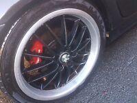 18 bmw wheels alloys with good tyres for sale ( e46 e39 e60 320d 530d 525d 318 116