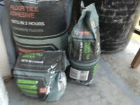 Pending collection - Tile Grout Grey 20k and Tile Adhesive 5k plus part used bag