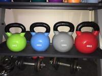 Body power strength vinyl coated kettlebells