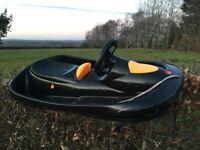 Toboggan with steering and brake - massive fun