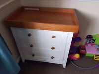 Mothercare draws with changing table top