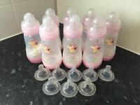 New Pink MAM Bottles