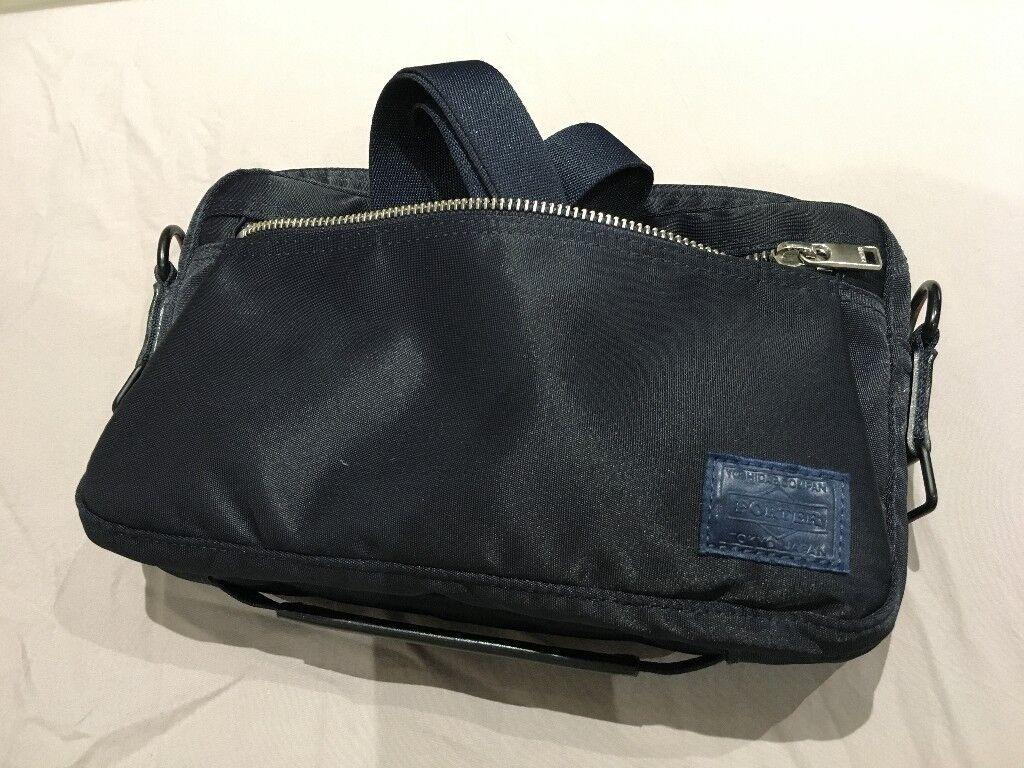 Yoshida Bag PORTER PORTER LIFT SHOULDER hand pouch BAG Navy 822-06129 Men  Japan 1a4c9a7d5f7fb