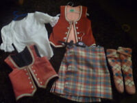 highland dancing outfit for approx age 6-8