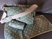 Cath Kidston change bag, with matching bottle holder and changing mat