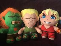 9 x Street fighter plush dolls