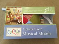 Alphabet Soup Musical Mobile for Cot