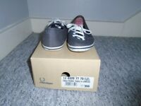 Fred Perry Canvas Shoes Size 6