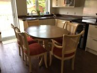 Dining table set inc 6 chairs and dresser unit by YP Furniture