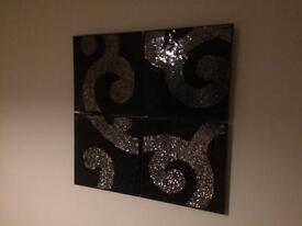 Glass mosaic pictures.