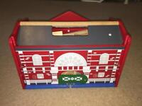 Wooden train set. Brand new. Unused. Christmas present