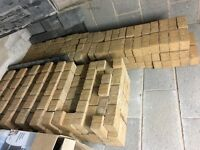 Buff coloured block pavers approx 500