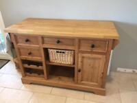 Bespoke wooden kitchen island butchers block storage