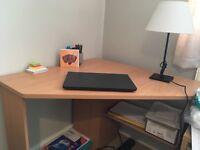 Corner desk tan
