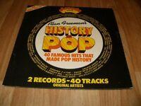 ALAN FREEMAN'S HISTORY OF POP DOUBLE VINYL ALBUM