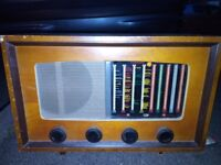 Antique radio PYE brand, made in Cambridge. One of the rarest, of the PYE make.