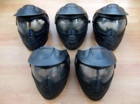 5 x PROTO PAINTBALL MASKS - EYE GOGGLE PROTECTION - PAINTBAL