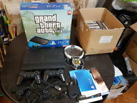 Playstation 3 500GB SLIM CONSOLE WITH 2 CONTROLLERS AND 34 GAMES TOP TITLES