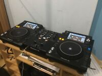 Pioneer usb xdj 1000 Mk2 Decks and mixer