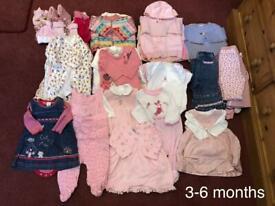 Girls Baby Bundle 3-6 Months.