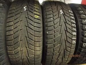 215/55R16 2 ONLY USED HANKOOK WINTER TIRES