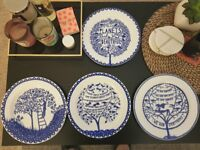 Box Set of 4 Plates from Rob Ryan