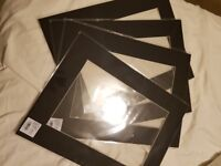 4 Black Picture Mounts