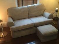 Sofa - Grey John Lewis and Matching Footstall