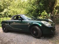 TOYOTA MR2 STUNNING LOOKING SOFT COVERTABLE. ONLY 49,000 MILES. NEW MOT. V.G.C.
