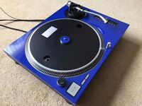 Technics SL-1210 MK2 Turntable With Custom Royal Blue Cover & 45