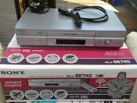 2 SONY VCR PLAYER RECORDER SLV-SE740 FULLY WORKING+REMOTE+MANUAL+BOX. 2nd VCR SAME SPECK NO BOX