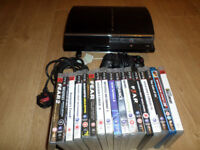 PLAYSTATION 3 CONSOLE & 17 GAMES