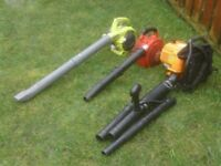 PETROL BLOWERS £35 EACH ASLO BACKPACK BLOWER £55