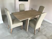 Next - 4-6 seater Dining Table with four chairs - great condition, hardly used!