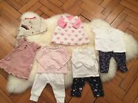 Baby girls clothing bundle - up to 3 months