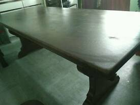 Massive Dining Table and 4 chairs
