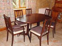Dining table and 6 chairs - a bargain!